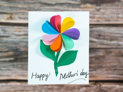 Beautiful 3D FLOWER CARD | Mother's Day Flower Card | Caft for Kids