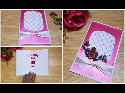 Beautiful handmade birthday???????? card with quilling art