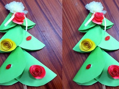 Christmas Tree -  EASY CHRISTMAS TREE ORIGAMI -  3 Sisters Crafts