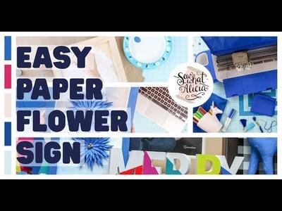 Cobalt Cricut Explore Air 2 - Easy Paper Flower