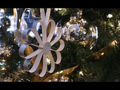 DIY CHRISTMAS TREE  DECORATE PAPER FLOWER | |making paper flowers decorated Christmas tree