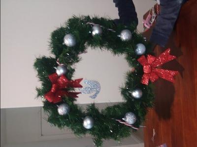 DIY door ornaments for Christmas
