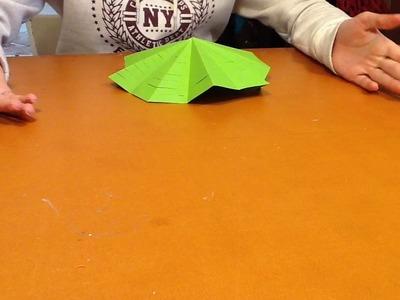DIY mini kerstboom van papier maken #19