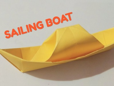 Easy Origami Boat - कागज़ की नाव - Paper Craft Sailing boat that floats