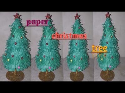 Easy paper christmas tree DIY christmas decoration |Rakshika Rajawat