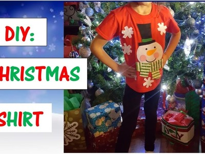 FAST & EASY DIY Christmas T Shirt (Super Simple)