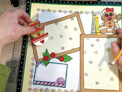 Gingerbread Scrapbook Layout Process Video