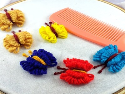 Hand Embroidery Amazing Trick |  Butterfly Embroidery Trick.