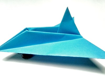 How to make 3D Paper Airplane || 3D Paper Fighter Plane Tutorial