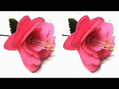 How to Make Duplex Crepe Paper Rose Flowers at Home