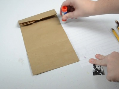 Paper Bag Craft Idea for President's Day: 3D Lincoln Log Cabin