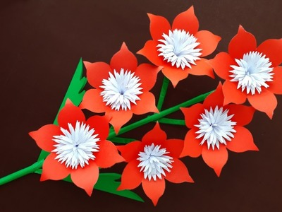 Paper Flower Stick | Making Paper Flower | Flower Stick | How To Make Paper Flowers