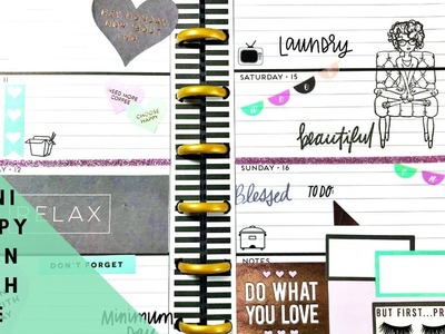 Plan with me-Mini Happy Planner