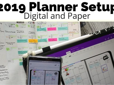 2019 Planner Setup - Digital and Paper Planning for the Beginning of the Year. #theawesomeplanner