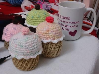 Cupcakes amigurumi parte 2 (ZURDO)