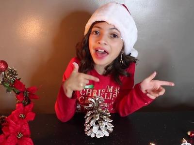 DIY Cute Christmas Tree Pinecone!