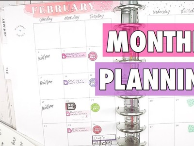 FEBRUARY 2019 CLASSIC HAPPY PLANNER SETUP | MONTHLY PLAN WITH ME | LIFE PLANNER + HOME PLANNER