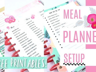 Free Printables! + Meal Planning Setup | Happy Planner