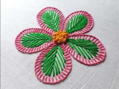 Hand embroidery beautiful flower design