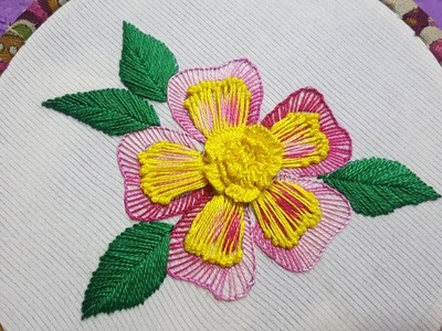 Hand embroidery best east and simple embroidery all over flower design stitch work #100