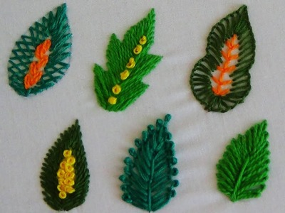 Hand Embroidery: Different Stitches for Leaf Embroidery Part 2