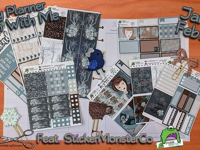 Happy Planner Plan with me January 28-February 3 featuring StickerMonsterCo