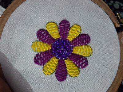 #Herringbone Stitch for Hand Embroidery