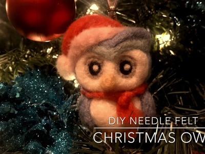 My DIY Needle felt Christmas Owl
