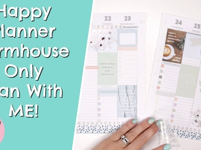 New Farmhouse Only Plan With ME In My Happy Planner Classic! Jan 20th - 26th