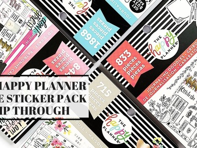 New Happy Planner Value Pack Sticker Book Flip Throughs | Plans by Rochelle