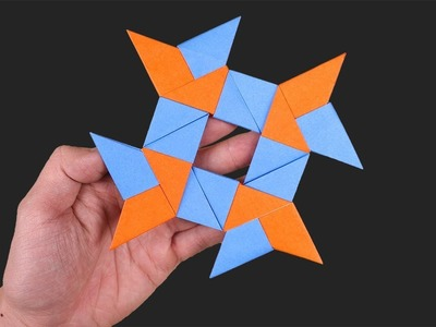 #Origami Ninja Star 4 Points - Double Blade