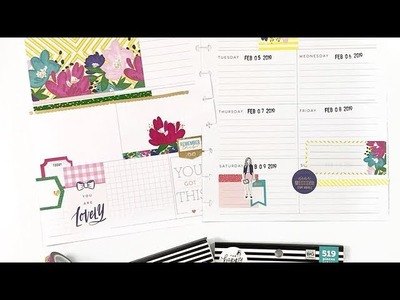 Plan With Me: February 4-10, 2019 The Happy Planner® Dashboard Layout [Stickers & Stamps How To]