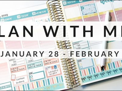 PLAN WITH ME!. January 28- February 3rd ft. Planner Kate