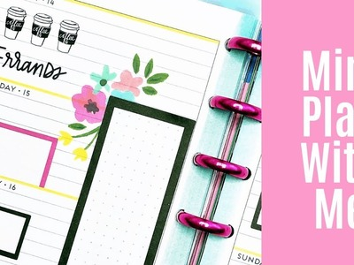 Plan With Me. Mini Happy Planner. January 14-20, 2019