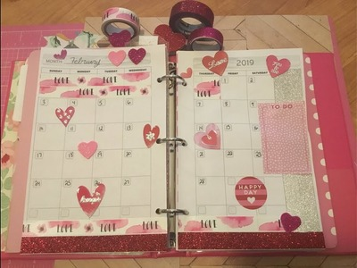 Plan With me Monday in my dollar tree planner and DIY TN. week of January 28- February 3