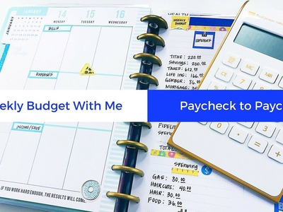 Weekly Budget With Me: Happy Planner #budgetwithme #weekly #paychecktopaycheck