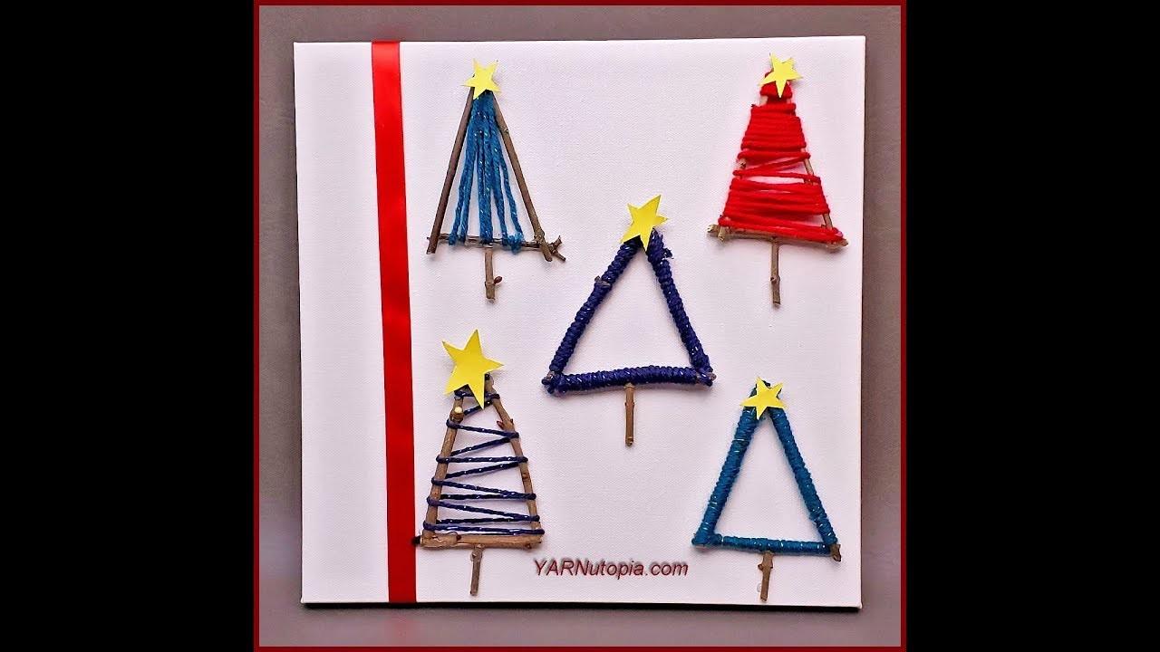 12 Days of Christmas: DIY Christmas Tree Canvas Art by YARNutopia
