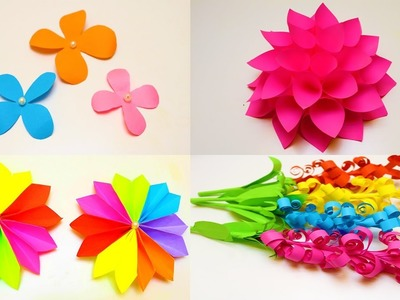 20 DIY Paper Flowers |  How to make Paper Flowers | Awesome Paper Crafts Flowers