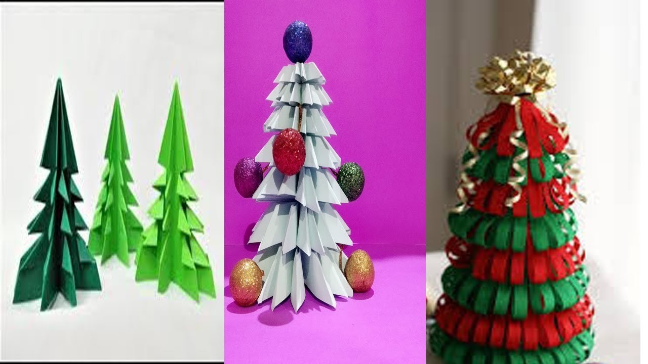 3- Awesome Ideas for DIY Christmas Decorations Creative Ideas.Christmas Tree for Kids.Creative Art