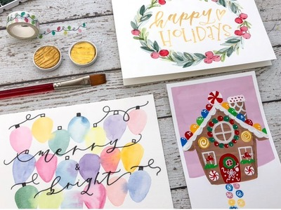 3 DIY Holiday Greeting Cards with Jess Park