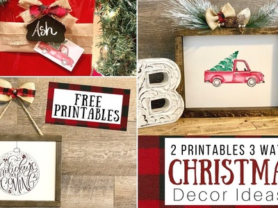 3 Ways to use Christmas Printables | Rustic Christmas DIY | Ashleigh Lauren X Inprints