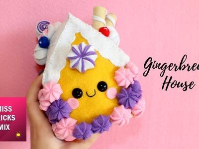 Adorable Gingerbread House Felt Plush DIY Tutorial | #7 Kawaii Christmas DIY