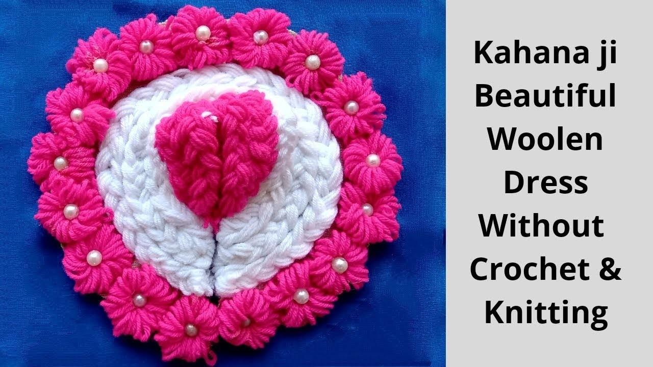 Beautiful.Easy Winter.woolen dress for laddu gopal without knitting.bunai.crochet || step by step