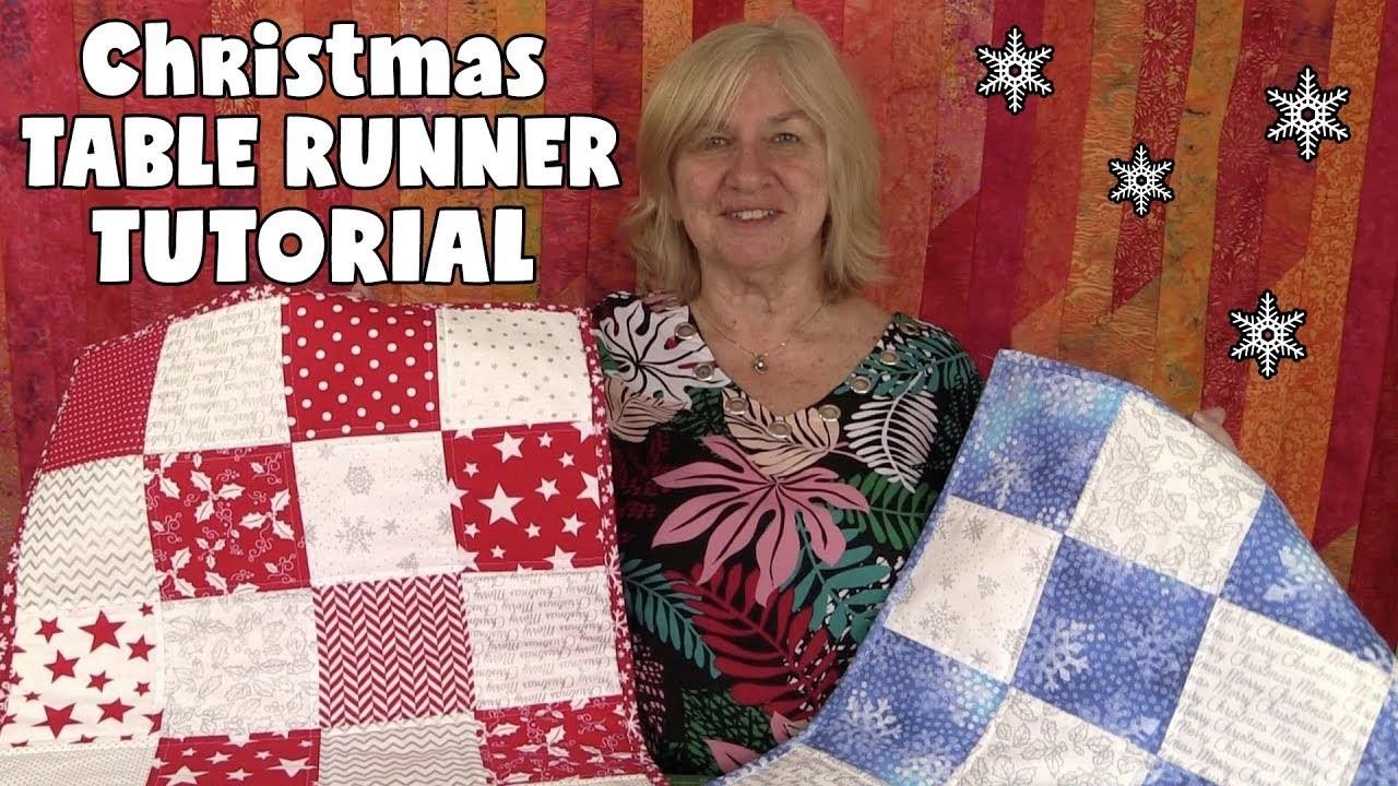 Charm Square Christmas Table Runner Tutorial - Easy DIY!