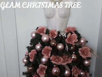 Christmas Decor and diy Challenge. Diy dress form Christmas tree