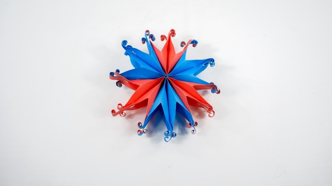 Christmas decoration - 3D Paper Snowflake Tutorial - DIY - The Crafty Tube