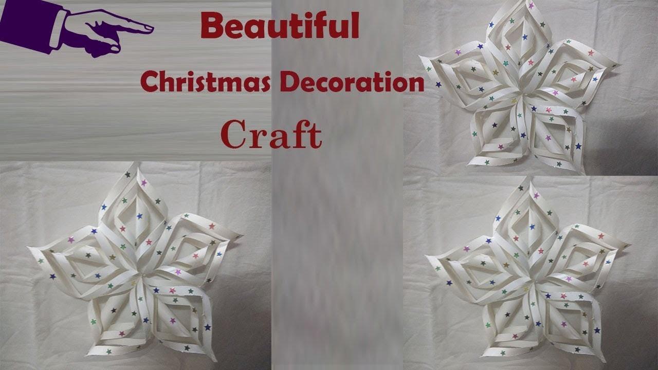 Christmas decoration ideas | christmas decorations ideas using paper | christmas diy