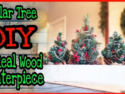 Christmas DIY Dollar Tree Rustic Farmhouse Table Decor