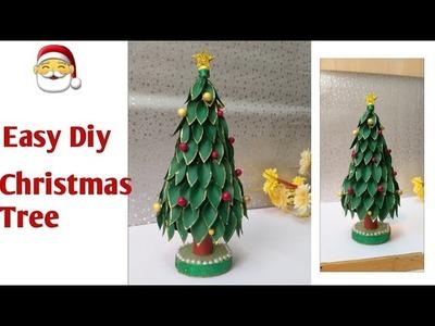 #Christmastreediy Diy.How to make easy paper Christmas Tree | Christmas Tree Making #Xmastreediy