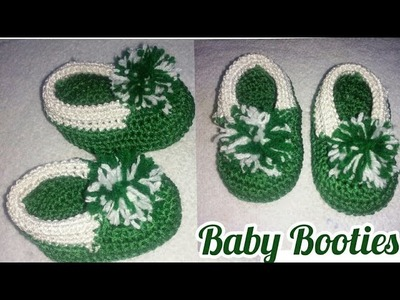 Crochet 3 Months Baby Booties in hindi Part-1,New Crochet baby booties,indian crochet patterns
